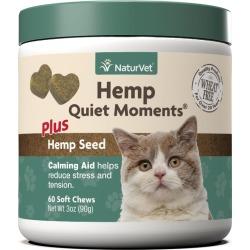 NaturVet Hemp Quiet Moments Cat Soft Chews 60ct