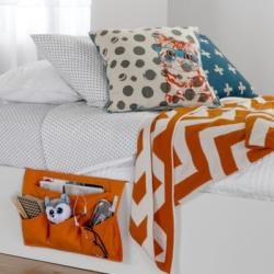 South Shore Storit Canvas Kids Bedside Storage Caddy - Orange Orange