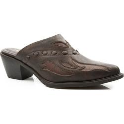 Roper Ladies Faux Leather Mule 6.5 Brown