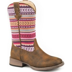 Roper Little Kids Hugs and Kisses Boots 2 Brown found on Bargain Bro India from StateLineTack.com for $55.99