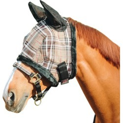 Kensington Fly Mask w/Fleece and Ears XL Black Pla found on Bargain Bro Philippines from StateLineTack.com for $39.99