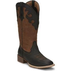 Justin Ladies Lattie Square Toe Boots 7 B Black found on Bargain Bro India from Horse.com for $115.51