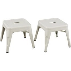 Ace Bayou Reservation Seating Marley Kids Stool - Set of 2, White White
