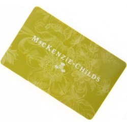 MacKenzie-Childs Gift Card 5000 found on Bargain Bro from mackenzie-childs for USD $3,800.00