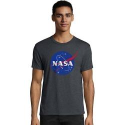 Hanes Men's NASA Meatball Graphic Tee Meatball/Slate Heather 2XL