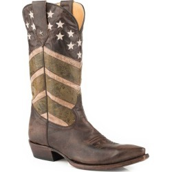 Roper Mens Badge Snip Toe Boots 11EE found on Bargain Bro India from Horse.com for $190.99