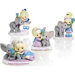 Precious Moments Alzheimer's Support Girl with Elephant Figurine Collection found on Bargain Bro India from Bradford Exchange for $39.99
