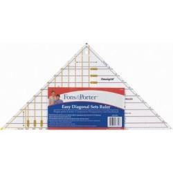 "Fons & Porter Easy Diagonal Sets Ruler-3"" To 12"""
