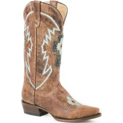 Roper Ladies Cross Patch Snip Toe Boots 8.5 found on Bargain Bro India from Horse.com for $199.75