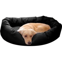 Majestic Pet Denier Bagel Dog Bed Medium Black