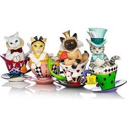 Disney Tea-lightful Wonderland Hand-Painted Cat Figurine Collection found on Bargain Bro Philippines from Bradford Exchange for $39.99