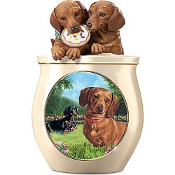 Cookie Jar: Cookie Capers: The Dachshund Cookie Jar found on Bargain Bro India from Bradford Exchange for $99.99