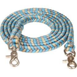 Mustang 3/4in x 8ft Braided Contest Rein Tur/Sil found on Bargain Bro India from Horse.com for $21.19