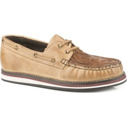 Roper Ladies Tooled Tan Leather Loafer Shoes 9.5 found on Bargain Bro India from Horse.com for $71.99