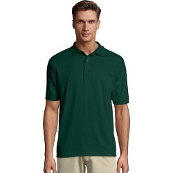 Hanes Men's Cotton-Blend EcoSmart Jersey Polo Deep Forest S found on Bargain Bro Philippines from Hanes Underwear for $7.00