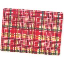 MacKenzie-Childs Festive Tartan Cork Back Placemats - Set of 4
