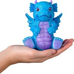 Color-Changing Dragon Dolls With Dragon Eggs & Satin Pillows