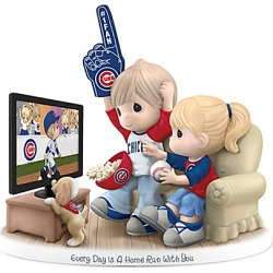 Precious Moments Chicago Cubs Fan Porcelain Figurine with Team Logos and Colors found on Bargain Bro India from Bradford Exchange for $99.99