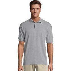 Hanes Men's Cotton-Blend EcoSmart Jersey Polo Ash 2XL found on Bargain Bro Philippines from Hanes Underwear for $7.00