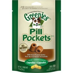 GREENIES DOG PILL POCKETS Peanut Butter Capsules found on Bargain Bro from Horse.com for USD $6.82