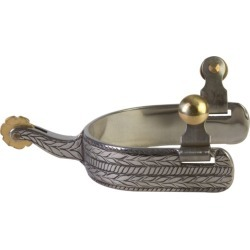 Western SS Rope Wide Clover Mens Spurs
