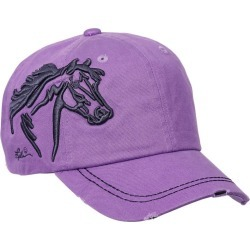 Horse Head Raised Embroidery Hat Lavender