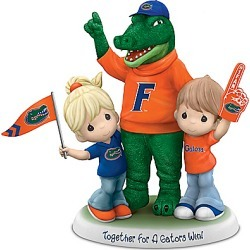 Precious Moments Porcelain Figurine With Gators Mascot found on Bargain Bro India from Bradford Exchange for $99.99