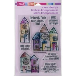 """Stampendous Perfectly Clear Stamps 4""""X6"""" Sheet-Family Home"""