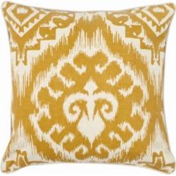 "Bohemian Amiri Pillow 18"" x 18"" Pillow - Saffron Saffron"