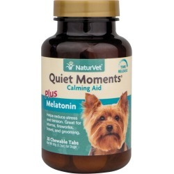 NaturVet Quiet Moments Calming Aid Chew Tabs 30 ct