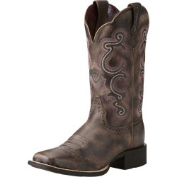 Ariat Ladies Quickdraw Sq Toe Chocolate Boots 5.5 found on Bargain Bro Philippines from StateLineTack.com for $135.96