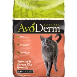 AvoDerm Natural Adult Cat Food - Salmon and Brown Rice size: 11 Lb