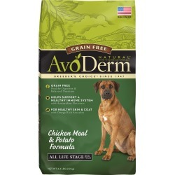 AvoDerm Natural Dog Food - Grain Free, Chicken Meal and Potato size: 4.4 Lb