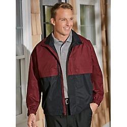 Men's Totes Two-Tone Jacket, Burgundy, Size 2XL