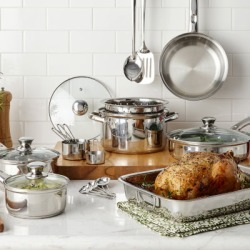 Cooks 21-pc. Stainless Steel Cookware Set found on Bargain Bro from  for $