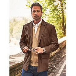 Irvine Park Lambskin Leather Blazer found on MODAPINS from Blair for USD $259.99