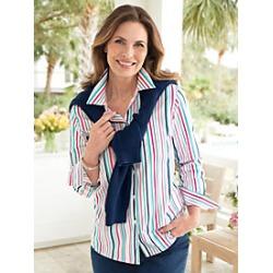 Foxcroft Nautical Stripe Shirt