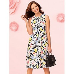Abstract Floral Dress found on MODAPINS from Appleseeds for USD $89.99
