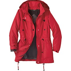 Women's Plus Size Jacket with Zip-out Fleece Liner, Hot Red, Size 2XL