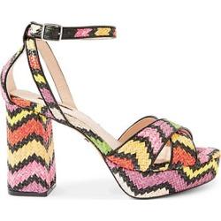 Topshop Leah Cross-Strap Platform Heel Sandals