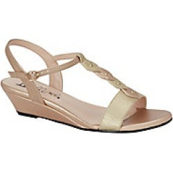 Women's Bellini Lively Studded T-Strap Wedge Sandals, Rose Gold, Size 7.5 Wide found on Bargain Bro Philippines from Haband for $39.99