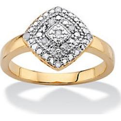 1/10 TCW Pave Diamond Square Ring