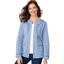Embroidered Cardigan found on MODAPINS from Blair for USD $17.97