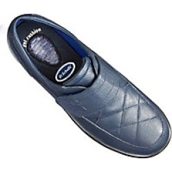 Dr. Scholls Gel Cushion Womens Leather Walkers, Navy, Size 8.5 found on Bargain Bro Philippines from Haband for $34.99