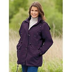 Women's Plus Size Jacket with Zip-out Fleece Liner, Plum, Size 4XL