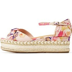 Bamboo Floral Ankle Strap Espadrille Sandals