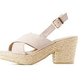 Qupid Espadrille Slingback Sandals