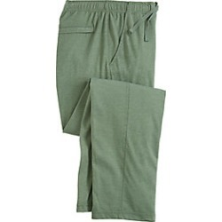 Men's Active Joe Jersey Knit Classic Pants, Green Heather, Size 3XL L (31-32) found on Bargain Bro Philippines from Haband for $25.99