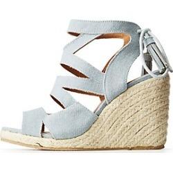 Qupid Crisscross Espadrille Wedge Sandals