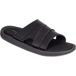 Black Brown 1826 Memory Foam Thong Slider Sandals